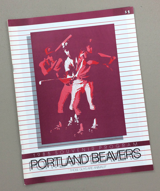 Portland Beavers 1985 Program