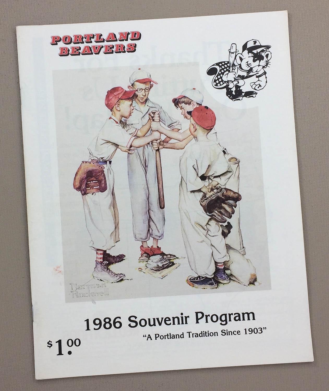 Portland Beavers 1986 Program