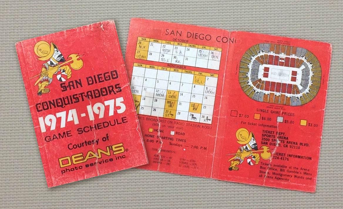 San Diego Conquistadors Schedule