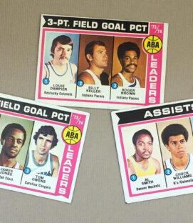 1973-74 ABA Leaders Collectors Card Set