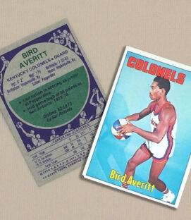 1976 Kentucky Colonels Bird Avert Collectors Card