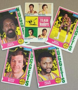 1974-75 Denver Nuggets Collectors Card Set