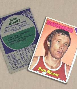 1976 Memphis Sounds Rick Mount Collectors Card