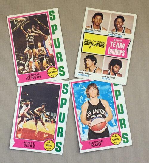 1974-75 San Antonio Spurs Collectors Card Set
