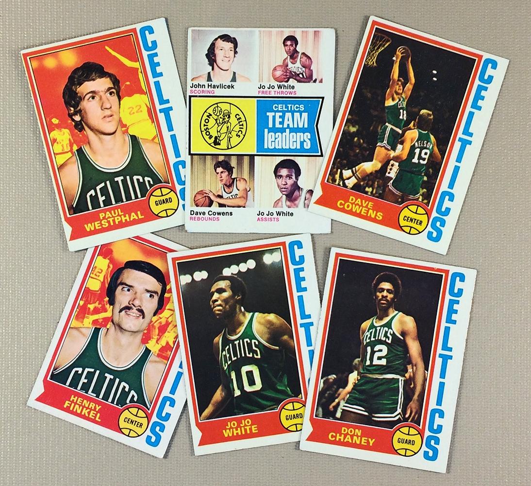 1974-75 Boston Celtics Collectors Card Set