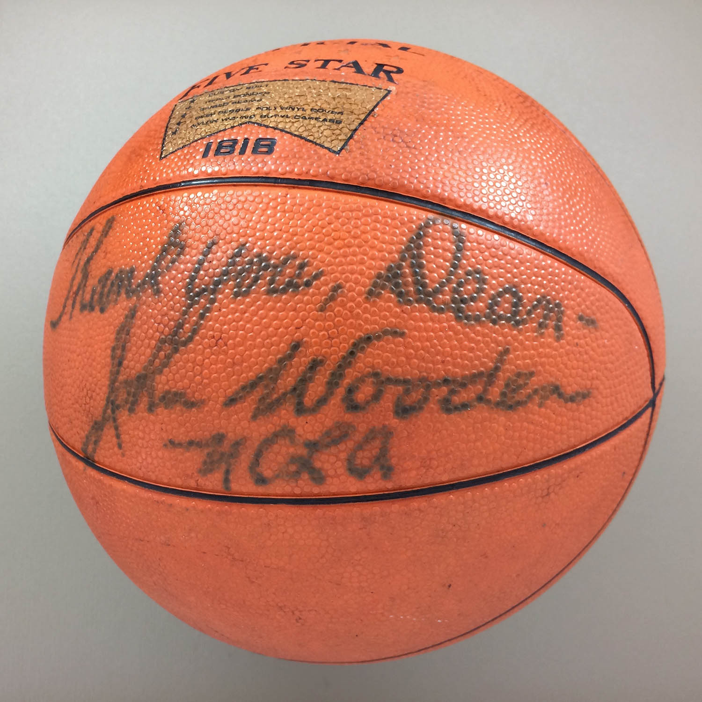 John Wooden Autographed Basketball