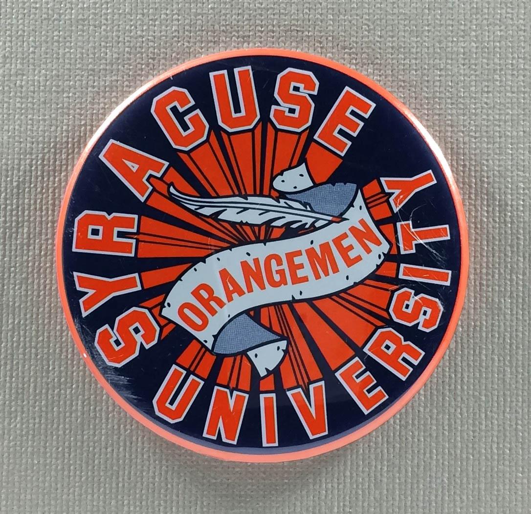 Syracuse University Orangemen Button