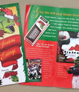 Anaheim Piranhas Ticket Brochure