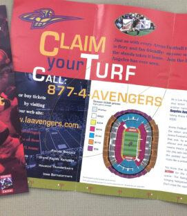 Los Angeles Avengers Ticket Brochure