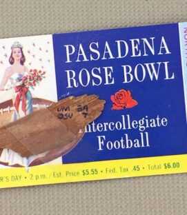 Rose Bowl 1965 Ticket Stub