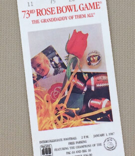 Rose Bowl 1987 Ticket Stub