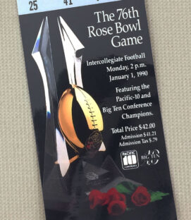Rose Bowl 1990 Ticket Stub