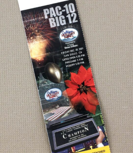 2001 Holiday Bowl Ticket Stub