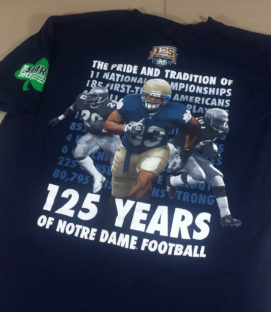Notre Dame 125 Year Commemorative T-Shirt