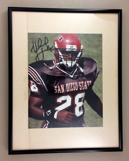 Marshall Faulk SDSU Autographed Framed Print