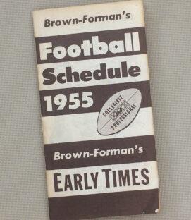 Brown Formans 1954 Football schedule