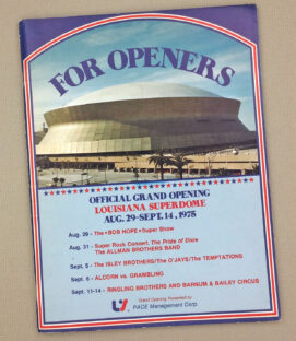 SuperDome 1975 Grand Opening Brochure