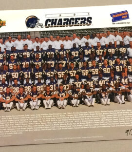 San Diego Chargers 1995 Team Photo