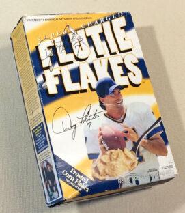 Autographed Flutie Flakes Cereal Box