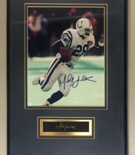 Marshall Faulk Autographed Colts Photo