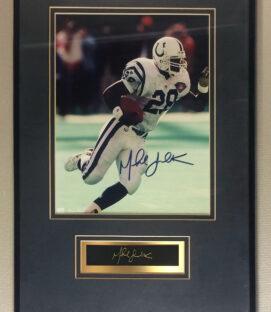 Marshall Faulk Autographed Colts Photo