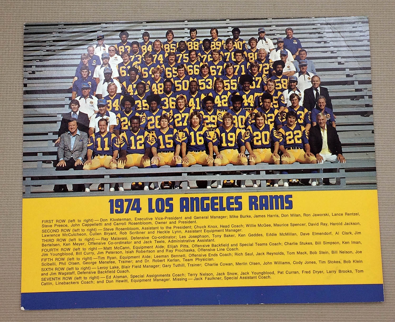 Los Angeles Rams 1974 Team Photo