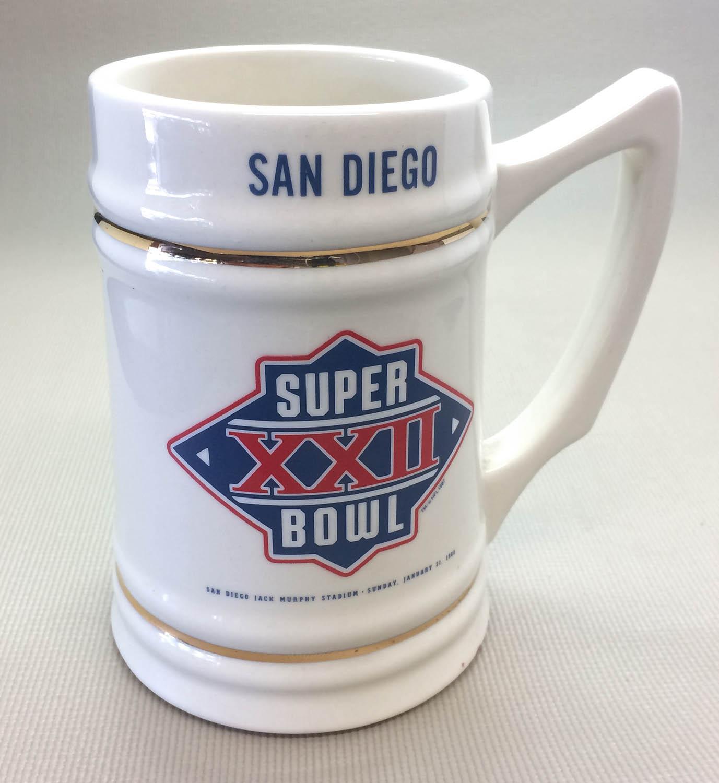 Super Bowl XXII Collectors Stein