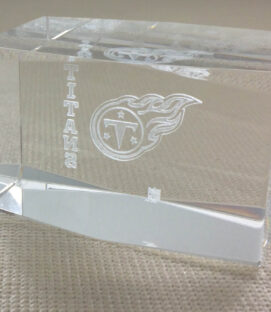 Tennessee Titans Logo Crystal