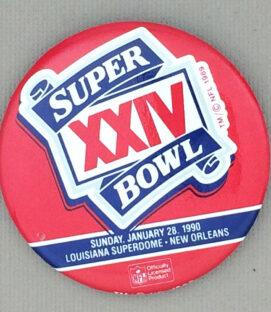 1990 Super Bowl XXIV Button