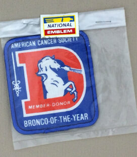 Denver Broncos ACA Bronco-of-the-year Patch