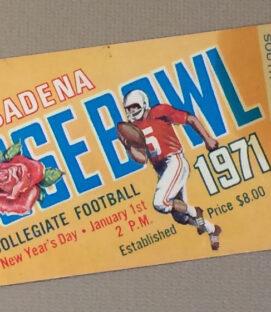 Rose Bowl 1971 Ticket Stub