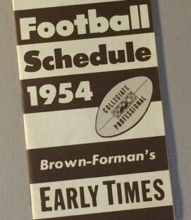 Early Times 1954 College Football schedule