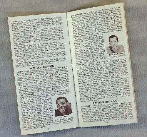 1954 NFL Schedule