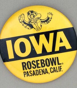 Iowa Rose Bowl Button