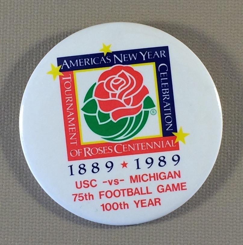 Rose Bowl Centennial Anniversary Button