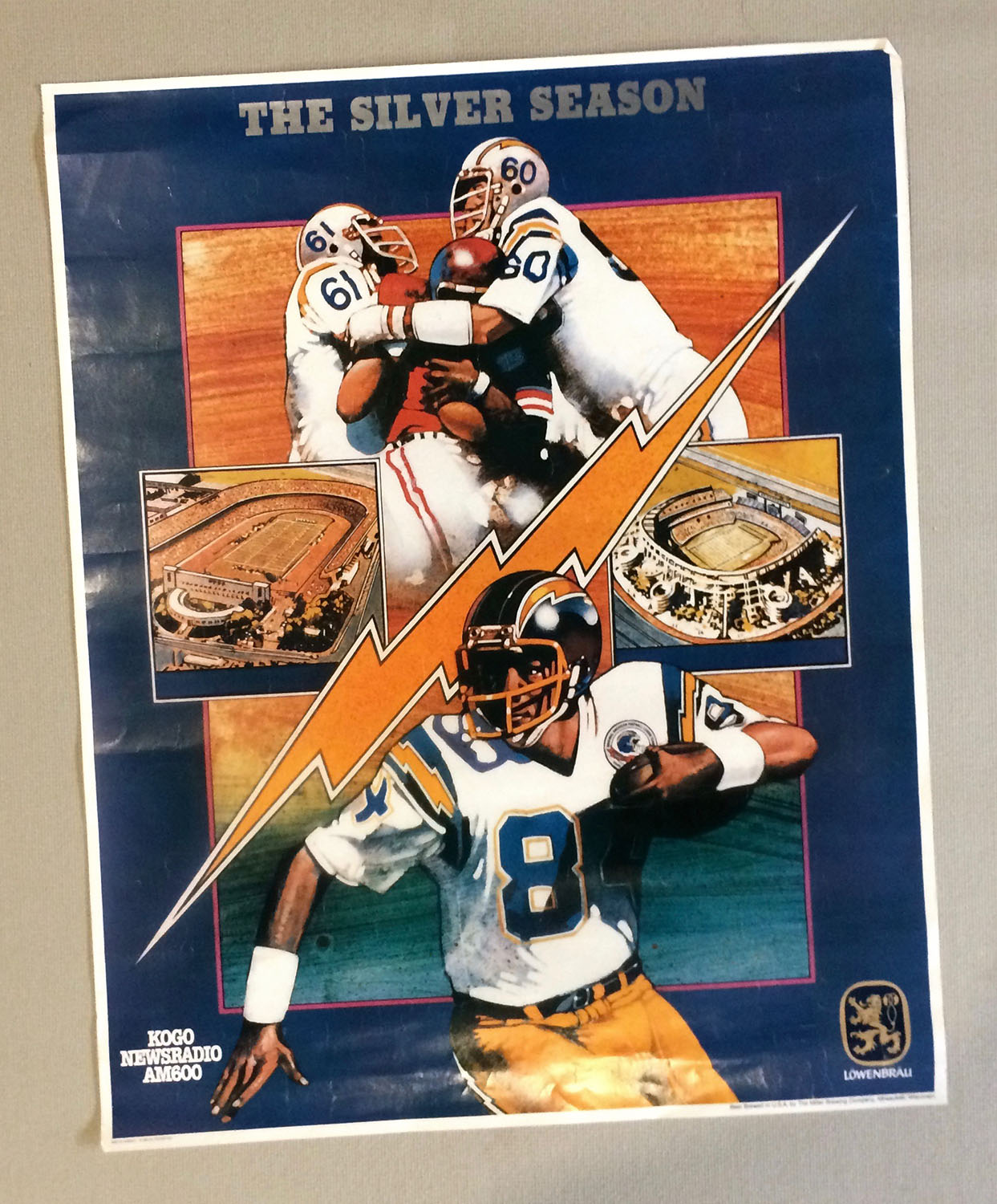 San Diego Chargers 25 Year Anniversary Poster