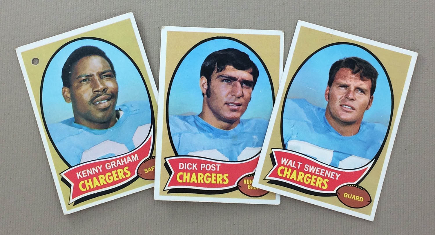 San Diego Chargers 1970 cards