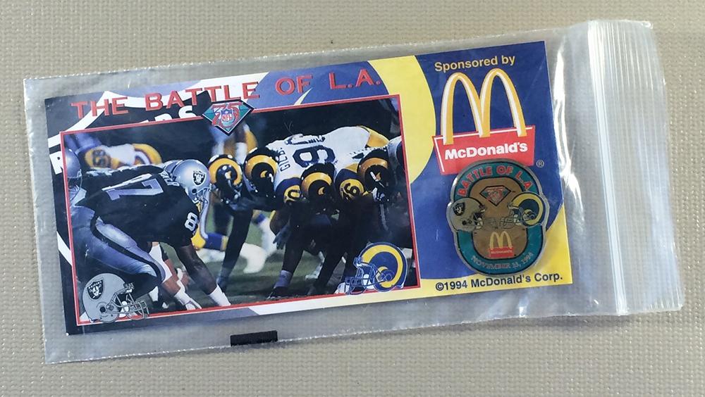 Los Angeles Rams/Raiders Commemorative Pin