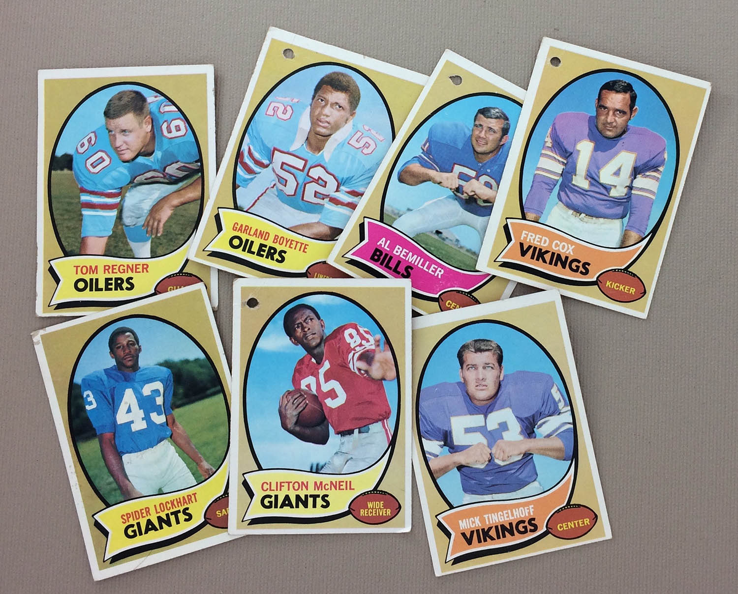 NFL Misc 1970 cards