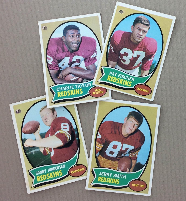 Washington Football Team 1970 cards