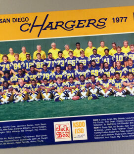 San Diego Chargers 1977 Team Photo