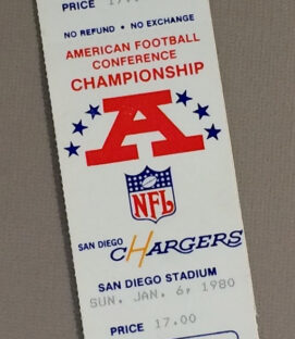 1980 AFC Playoffs Ticket