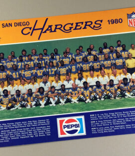San Diego Chargers 1980 Team Photo