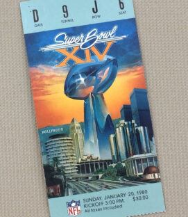 Super Bowl XIV Ticket Stub