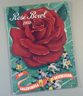 1951 Rose Bowl Game Program