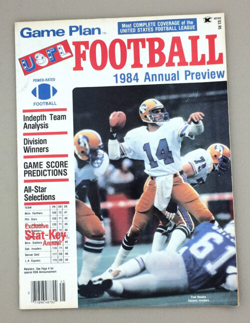 Game Plan 1984 USFL Football Preview