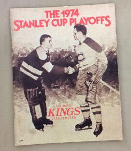 Kings Blackhawks 1974 Playoff Program