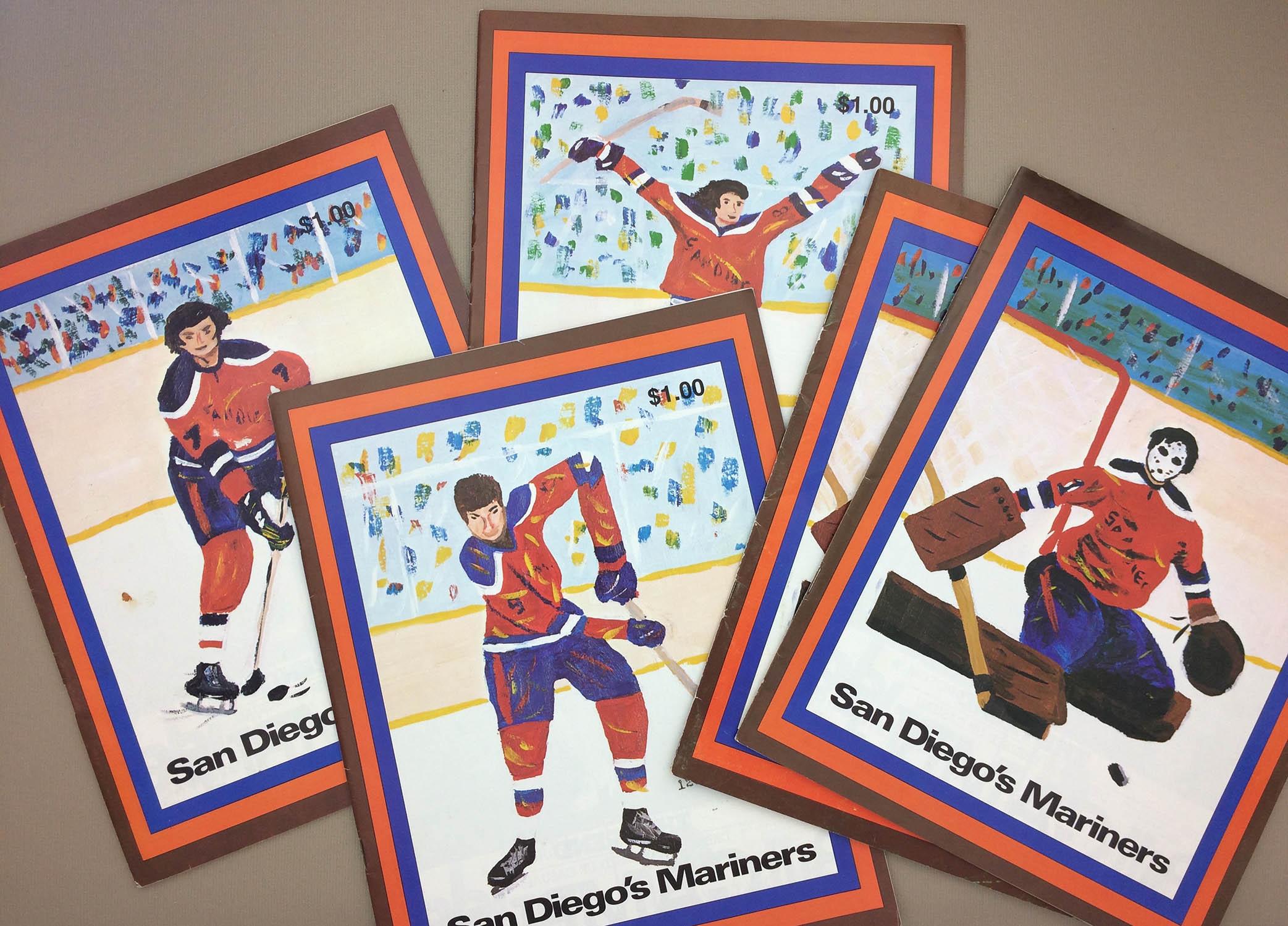 San Diego Mariners 1977-78 Program Covers