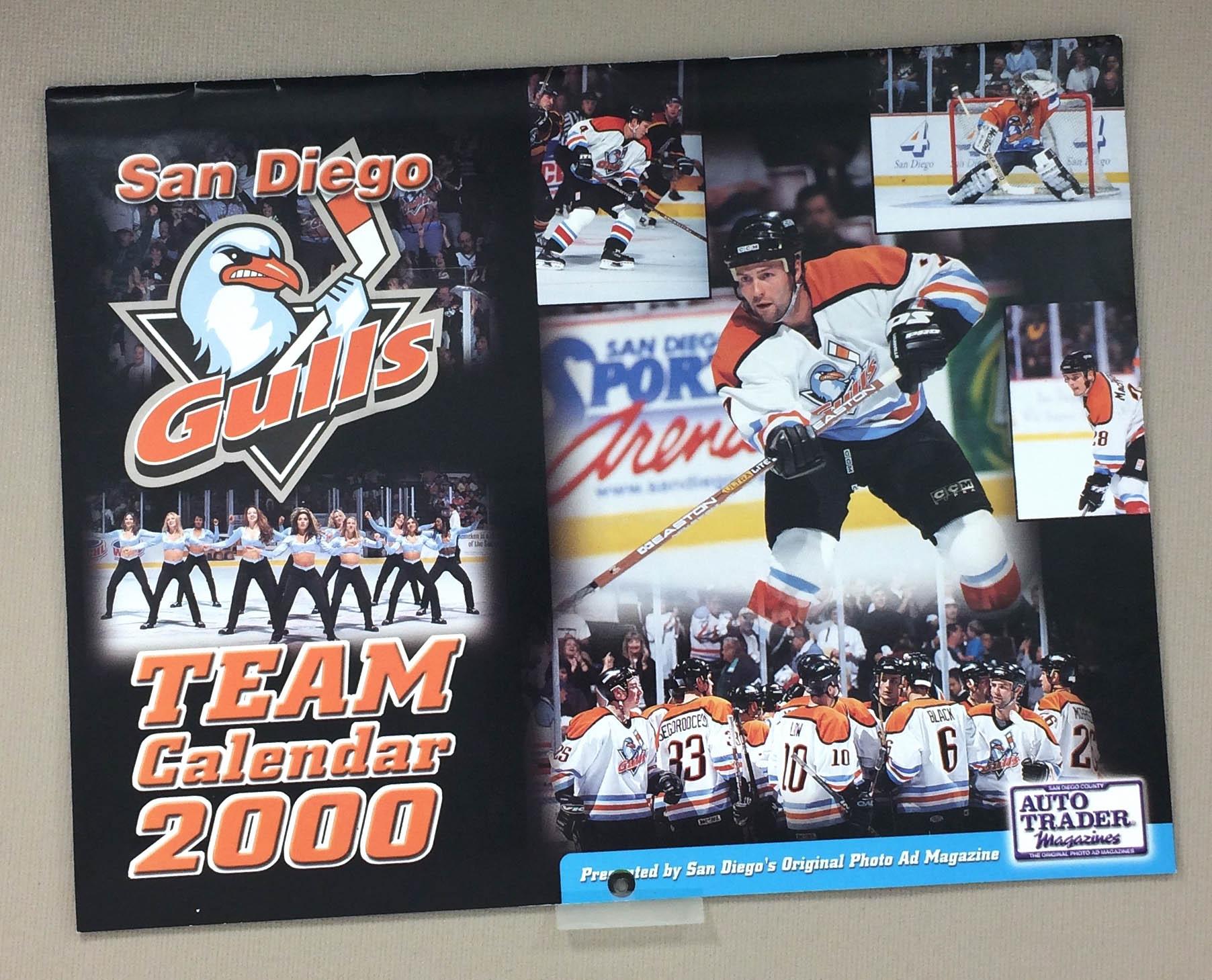 San Diego Gulls 2000 Team Calendar
