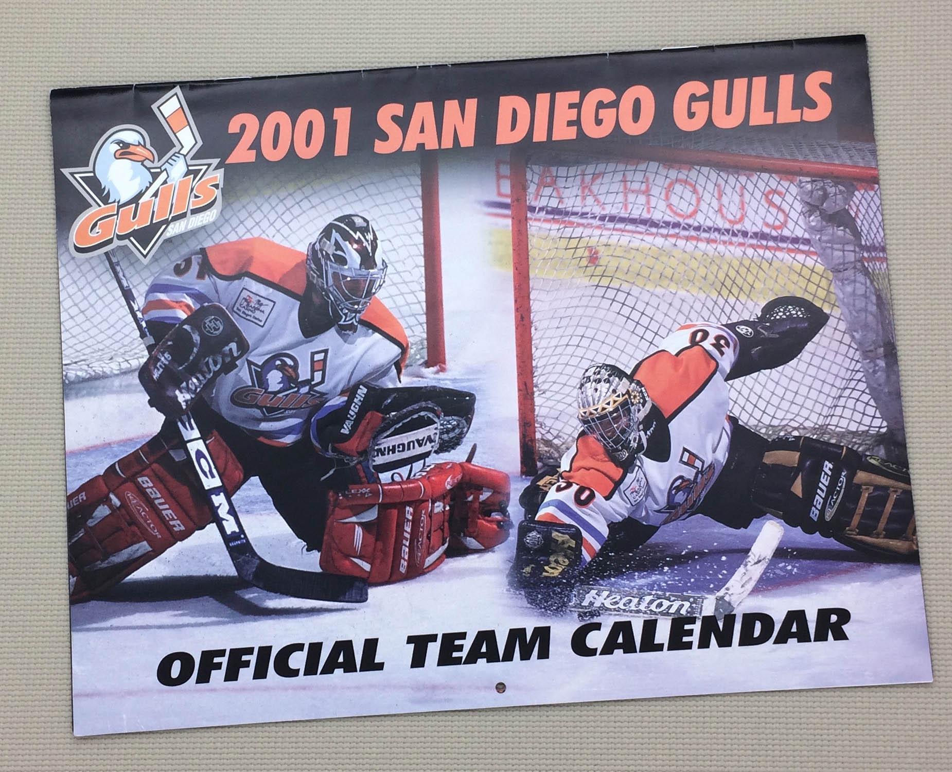 San Diego Gulls 2001 Calendar